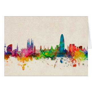 Skyline Barcelonas Spanien Karte