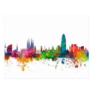 Skyline Barcelonas Spanien Postkarte