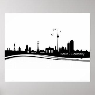 Skyline Berlin Poster