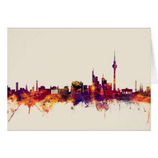 Skyline Berlins Deutschland Karte