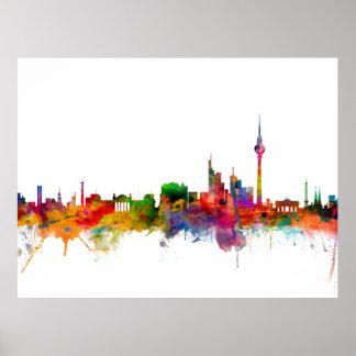 Skyline Berlins Deutschland Poster