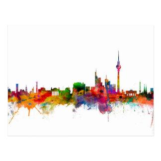 Skyline Berlins Deutschland Postkarte
