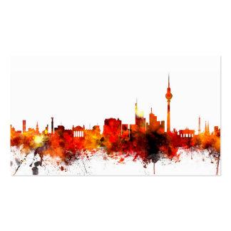 Skyline Berlins Deutschland Visitenkartenvorlagen