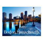 Skyline Bostons Massachusetts an der Postkarte