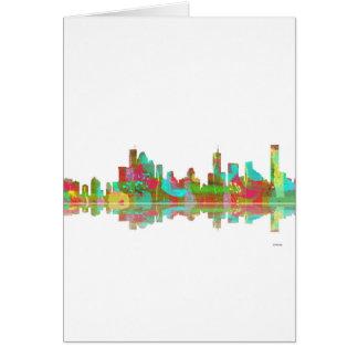 Skyline Brisbanes Qld Karte