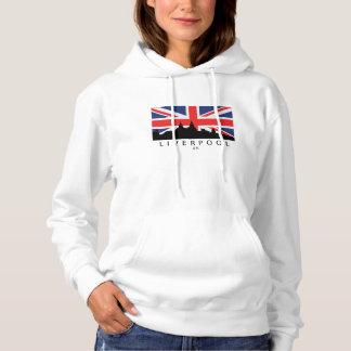 Skyline-Briten-Flagge Liverpools England BRITISCHE Hoodie