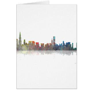 Skyline Chicagos Illinios Karte
