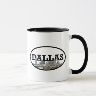 Skyline Dallas Texas mit Dallas im Himmel Tasse