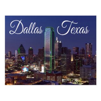 Skyline Dallas, Texas, Staat-Postkarte Postkarte