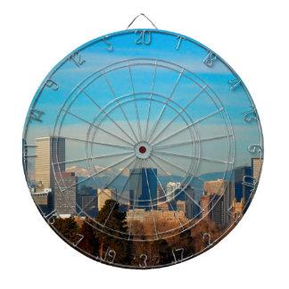 Skyline Denvers Colorado Dartscheibe