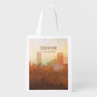 Skyline Denvers, Colorado in den WOLKEN Wiederverwendbare Einkaufstasche