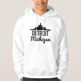 Skyline Detroits Michigan Hoodie