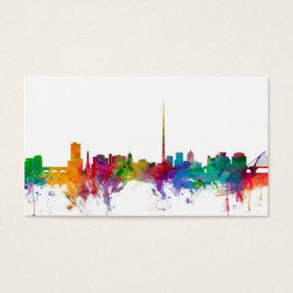 Skyline Dublins Irland Visitenkarte