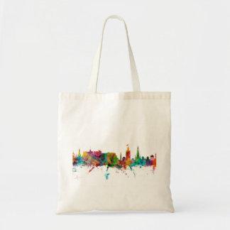 Skyline Edinburghs Schottland Budget Stoffbeutel