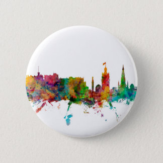 Skyline Edinburghs Schottland Runder Button 5,1 Cm