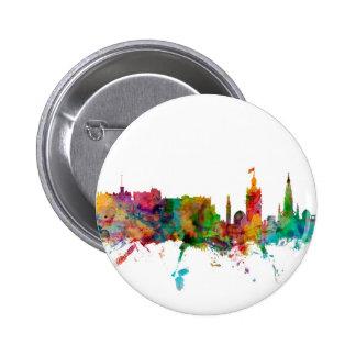 Skyline Edinburghs Schottland Runder Button 5,1 Cm