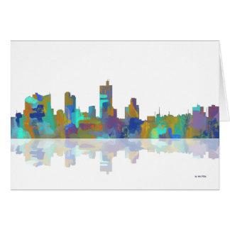 Skyline Fort Worths Texas Karte