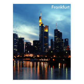 Skyline Frankfurts, Deutschland Postkarte