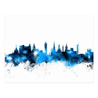 Skyline Glasgows Schottland Postkarte