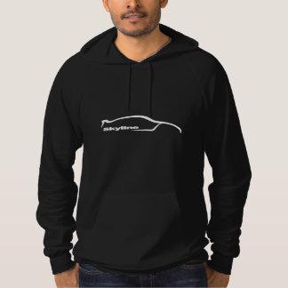 Skyline GT-r Weiß-Silhouette Hoodie
