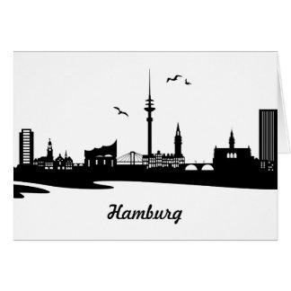 Skyline Hamburg Karte