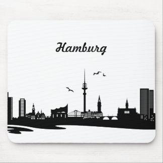 Skyline Hamburg Mauspads