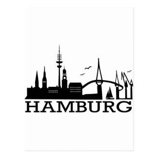 Skyline Hamburg Postkarte