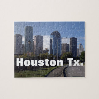Skyline Houstons Texas (panoramisch) Puzzle