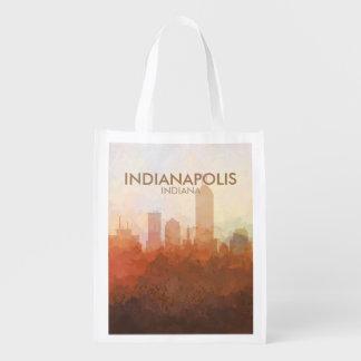 Skyline Indianapolis, Indiana in den WOLKEN Wiederverwendbare Einkaufstasche