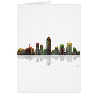 Skyline Indianas Indianapolis Karte