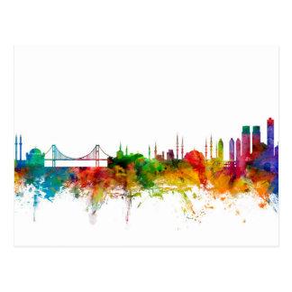 Skyline Istanbuls die Türkei Postkarte