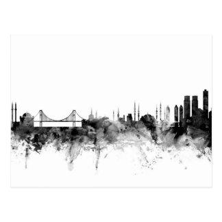 Skyline Istanbuls die Türkei Postkarten