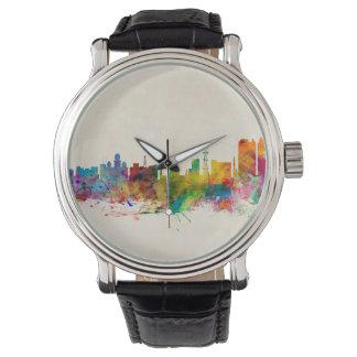 Skyline Kalkuttas (Kolkata) Indien Armbanduhr