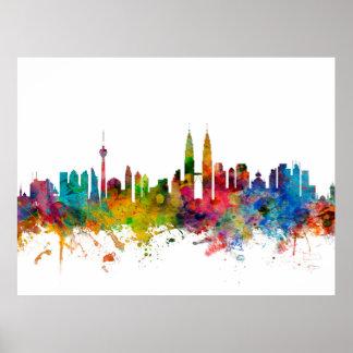 Skyline Kuala Lumpur Malaysia Plakat