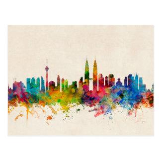 Skyline Kuala Lumpur Malaysia Postkarte