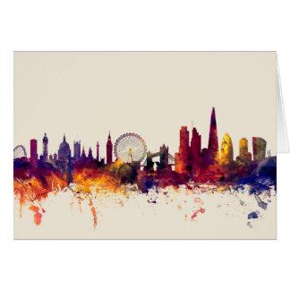 Skyline Londons England Karte
