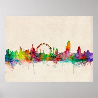 Skyline Londons England Poster