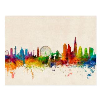 Skyline Londons England Postkarten