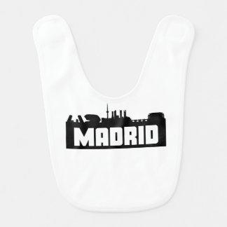Skyline Madrids Spanien Lätzchen