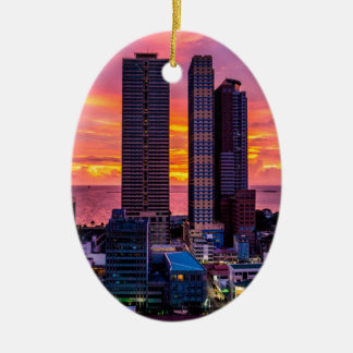 Skyline Manilas Philippinen Keramik Ornament