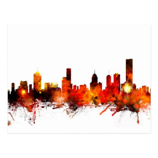 Skyline Melbournes Australien Postkarte