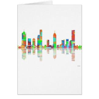 Skyline Melbournes Vic Karte