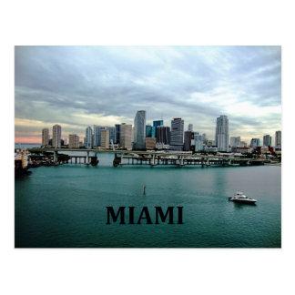 Skyline Miamis Florida Postkarten