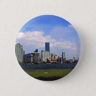 Skyline Miamis Florida Runder Button 5,7 Cm