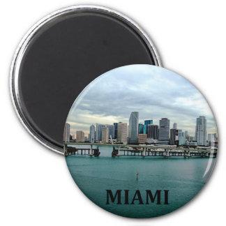 Skyline Miamis Florida Runder Magnet 5,7 Cm
