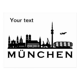 Skyline München Postkarte