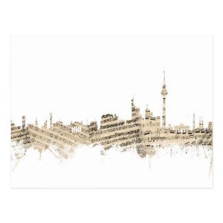 Skyline-Notenen-Stadtbild Berlins Deutschland Postkarte