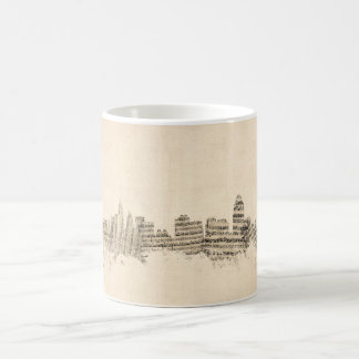 Skyline-Notenen-Stadtbild Cincinnatis Ohio Kaffeetasse