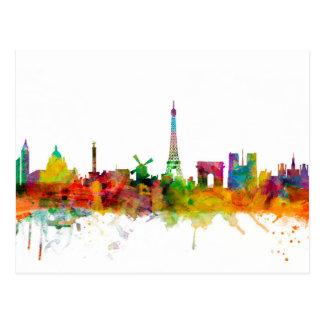 Skyline Paris Frankreich Postkarte