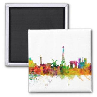 Skyline Paris Frankreich Quadratischer Magnet